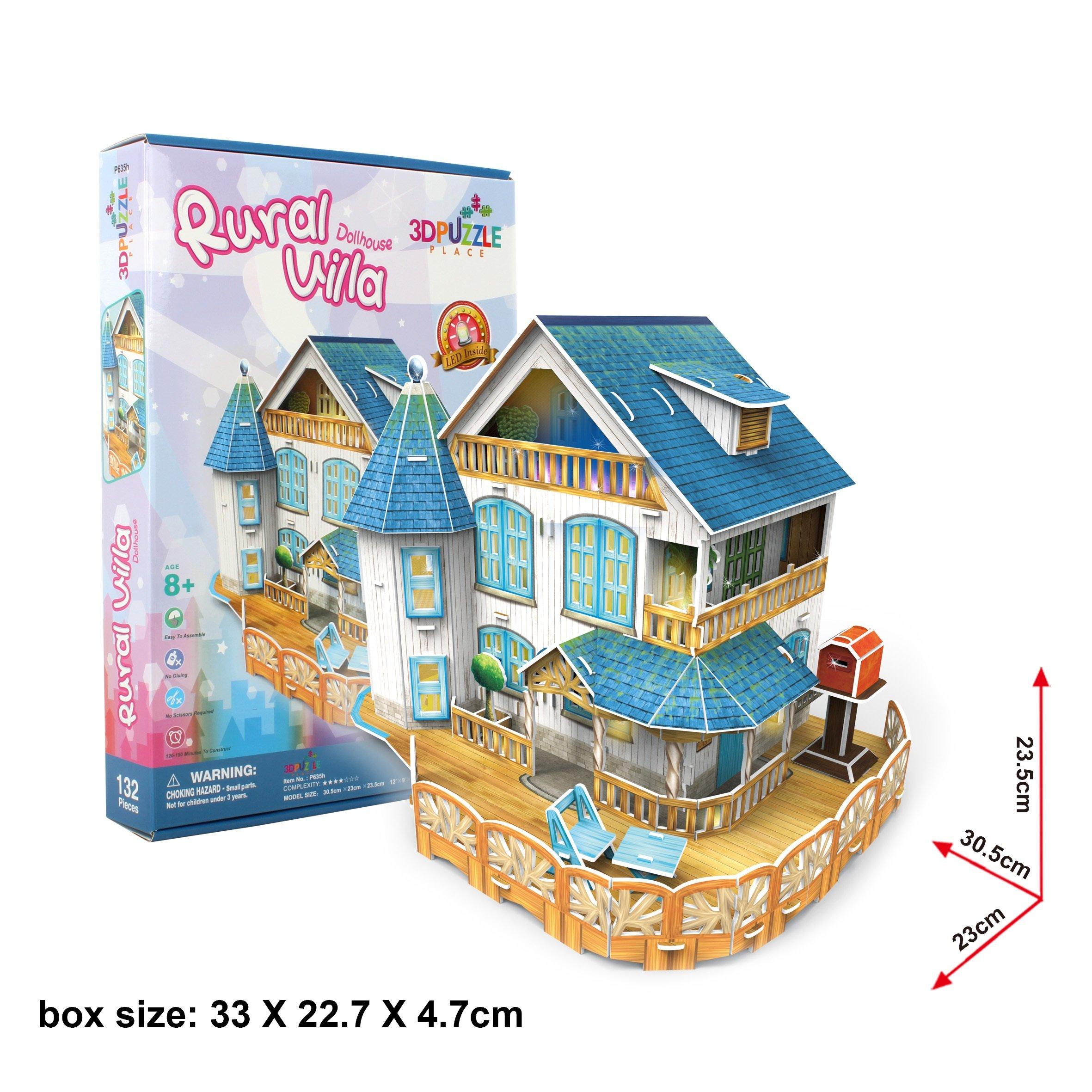 3D Puzzle Place Cubic Classic Rural Villa Dollhouse by 3D Puzzle Place (Image #3)