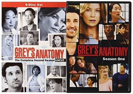 Amazon.com: Grey\'s Anatomy Starter Bundle (Season 1 and 2): Ellen ...