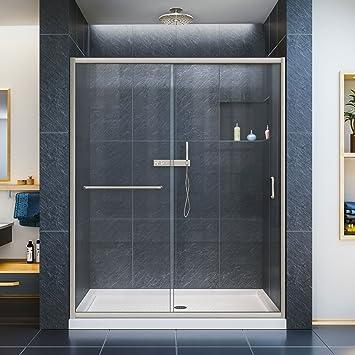 dreamline infinityz in width frameless sliding shower door