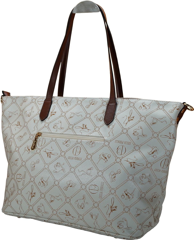 Damen Handtasche, Schultertasche, Shopper PU 1711 (Beige) Sara