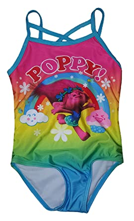 5c7c3ba559 Amazon.com  Dreamweave Trolls Girls Poppy One Piece Swimsuit  Clothing