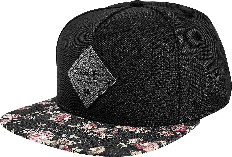 Blackskies Snapback Hat | Men Women Baseball Cap Floral Dad 5-Panel Strapback Hip Hop Urban