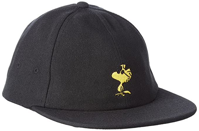d8cd04cb Vans_Apparel Men's X Peanuts Jockey Baseball Cap, Black, One Size