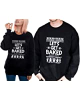 shopatniche Let's Get Baked Ugly X-Mas Christmas Sweater Unisex