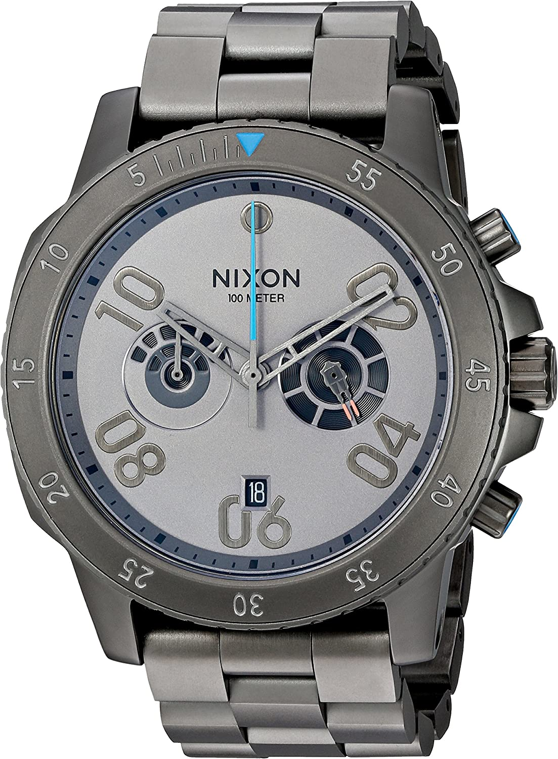 Nixon Men s Ranger Chrono SW, Millenium Falcon Gunmetal Quartz Stainless Steel Casual Watch, Color Silver-Toned Model A549SW-2385-00