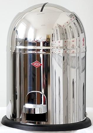 POV® Single Master, Wesco, escalera de acero inoxidable, Cubo de basura en Wesco Kickmaster estilo con cubo interior de plástico: Amazon.es: Electrónica
