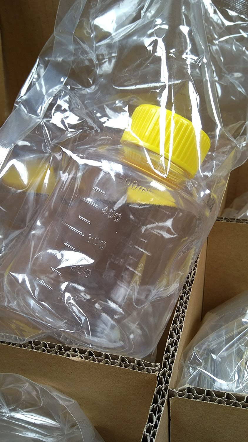 Vacuum Driven Sterile Bottle or Top Filter Cup Various Membranes and Pore Size 0.22um, Yellow NYLON Cup 1000ml, 1Piece