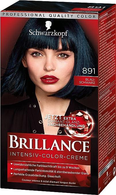 brillance Intensivo de color de crema 891 Azul de Negro Nivel 3, 3 Pack (3 x 143 ml)