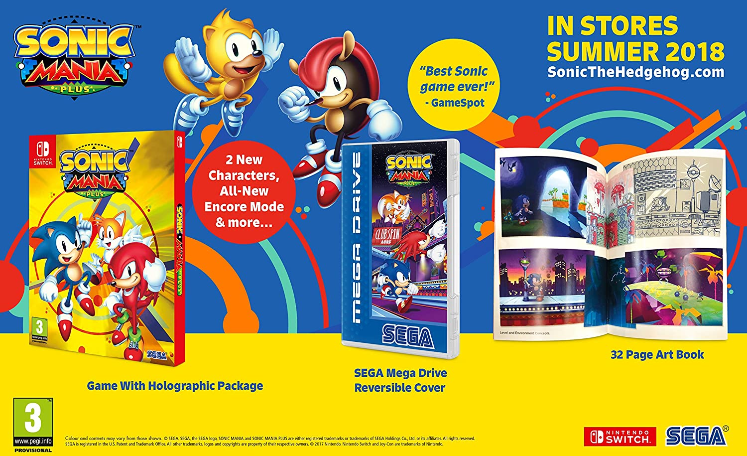 Sonic Mania Plus - Nintendo Switch [Importación inglesa]: Amazon ...