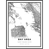 Amazon Com Gifts Delight Laminated 24x24 Poster Bay Area Map De Posters Prints Your home city, the place you went to university, or a memorable holiday. gifts delight laminated 24x24 poster