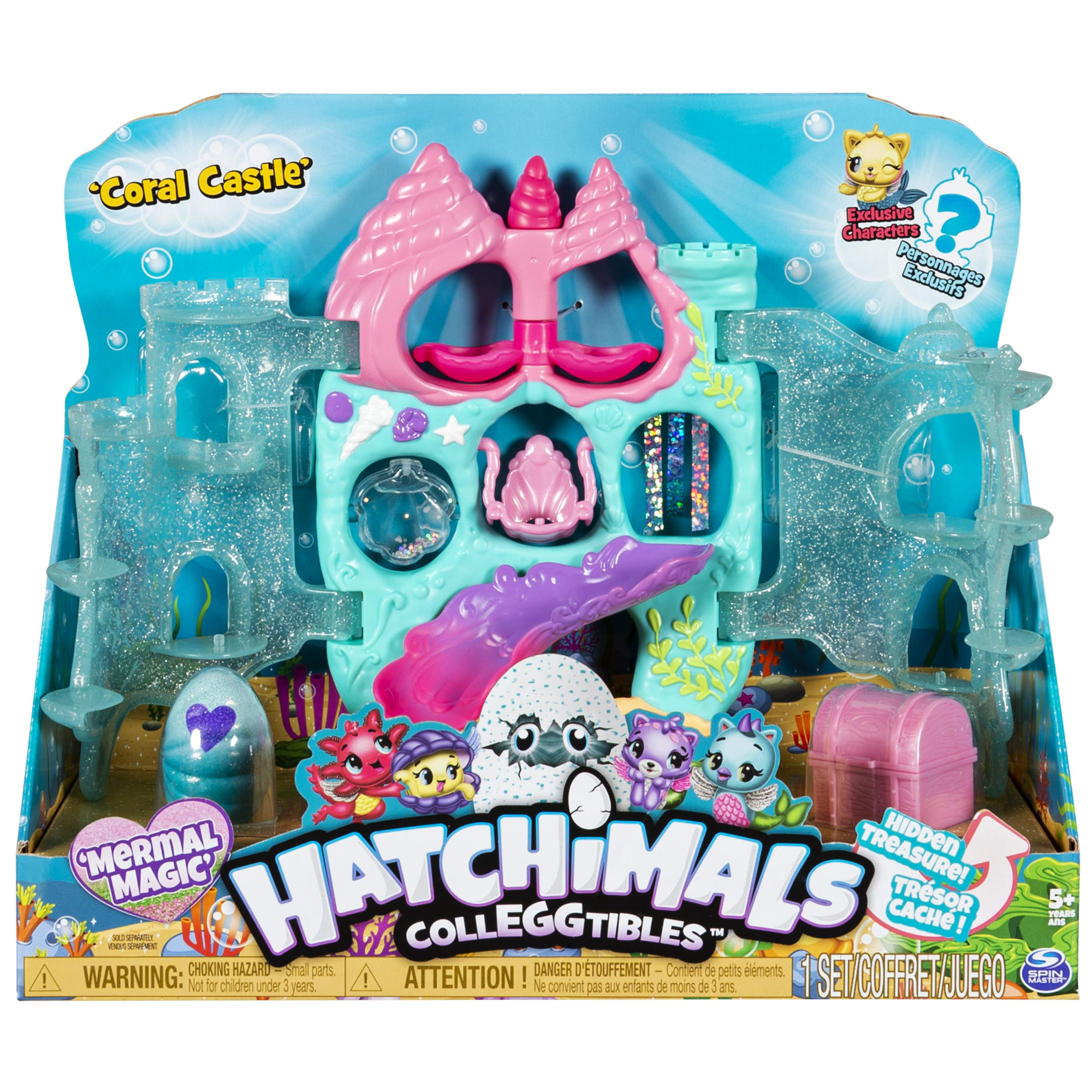 Hatchimals CollEGGtibles, Coral Castle Fold Open Playset with Exclusive Mermal Magic, for Kids Aged 5 and Up by Hatchimals
