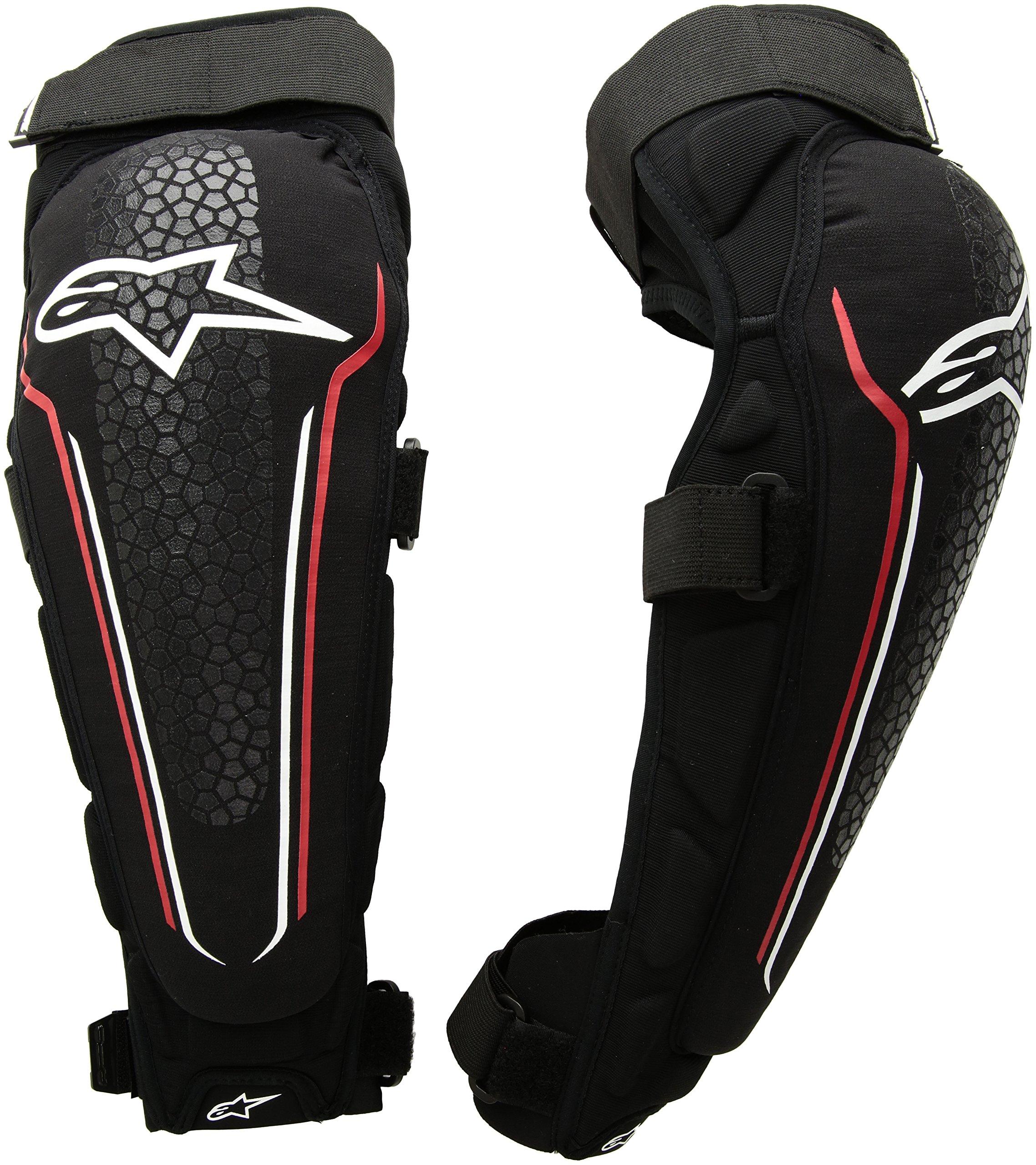 Alpinestars Evolution Knee/Shin Protector, Black/White/Red, Small/Medium