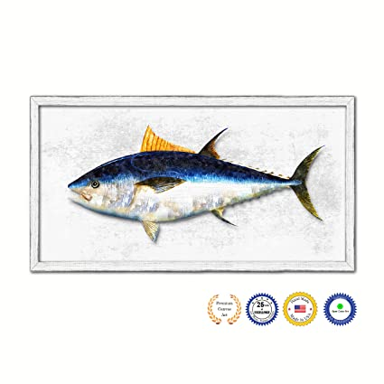 Bluefin Tuna Fish Art Gifts Home Decor Office Wall Decoration Canvas Print  With Custom Picture Frame