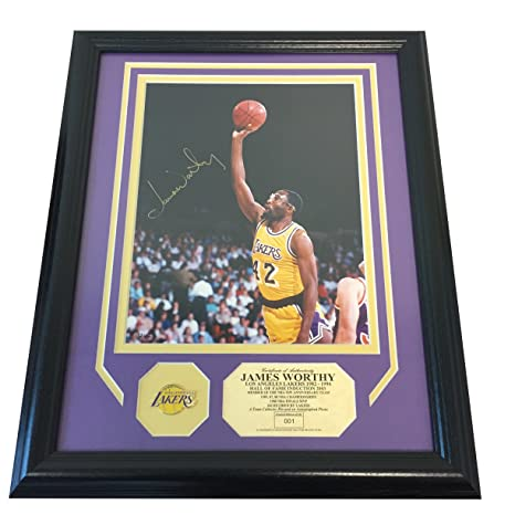 6221d3660f3 James Worthy, Los Angeles Lakers, Autographed 16 x 13 Framed & Matted Photo