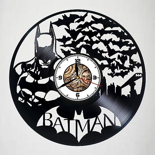 Amazon.com: Batman - DC - Comics - Handmade Vinyl Wall Clock ...