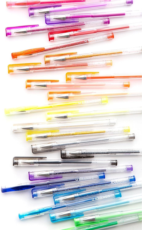 Assorted Colors U Brands Metallic Gel Pens 2225U06-24 30-Count