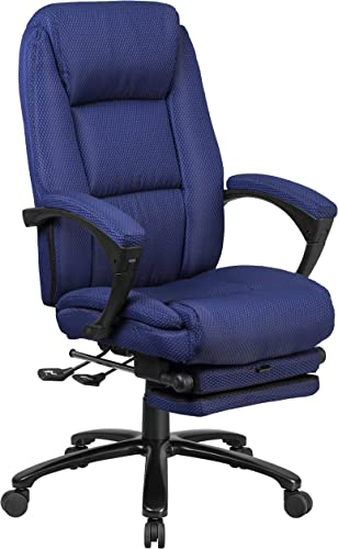 Flash Furniture High Back Navy Fabric Executive Reclining Ergonomic Swivel Office Chair