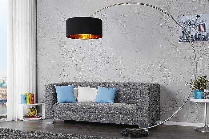 Standleuchte 180cm Gebogen Retro Design Flexibel Beleuchtung Silber