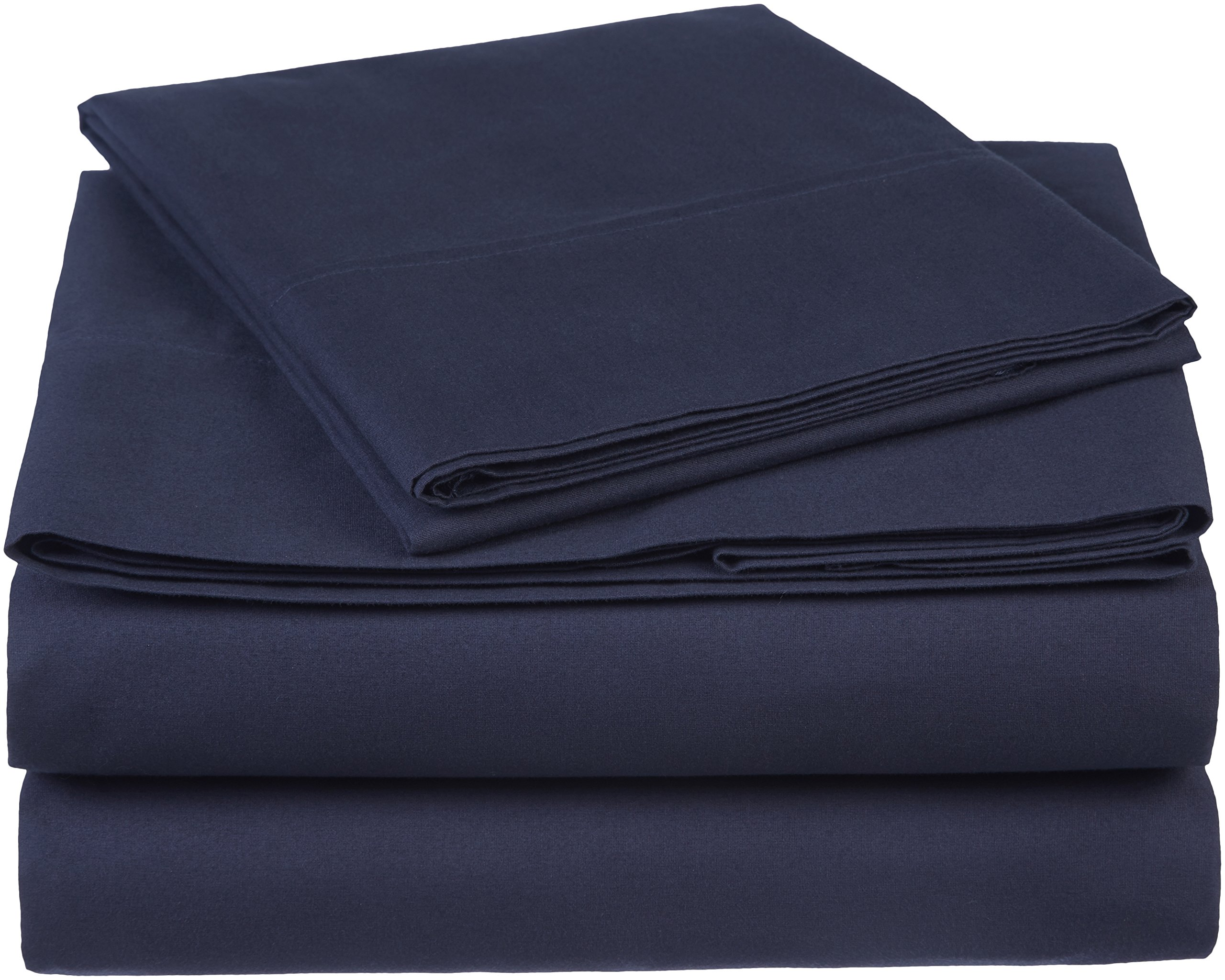 Pinzon 300 Thread Count Organic Cotton Sheet Set - Twin, Navy Blue
