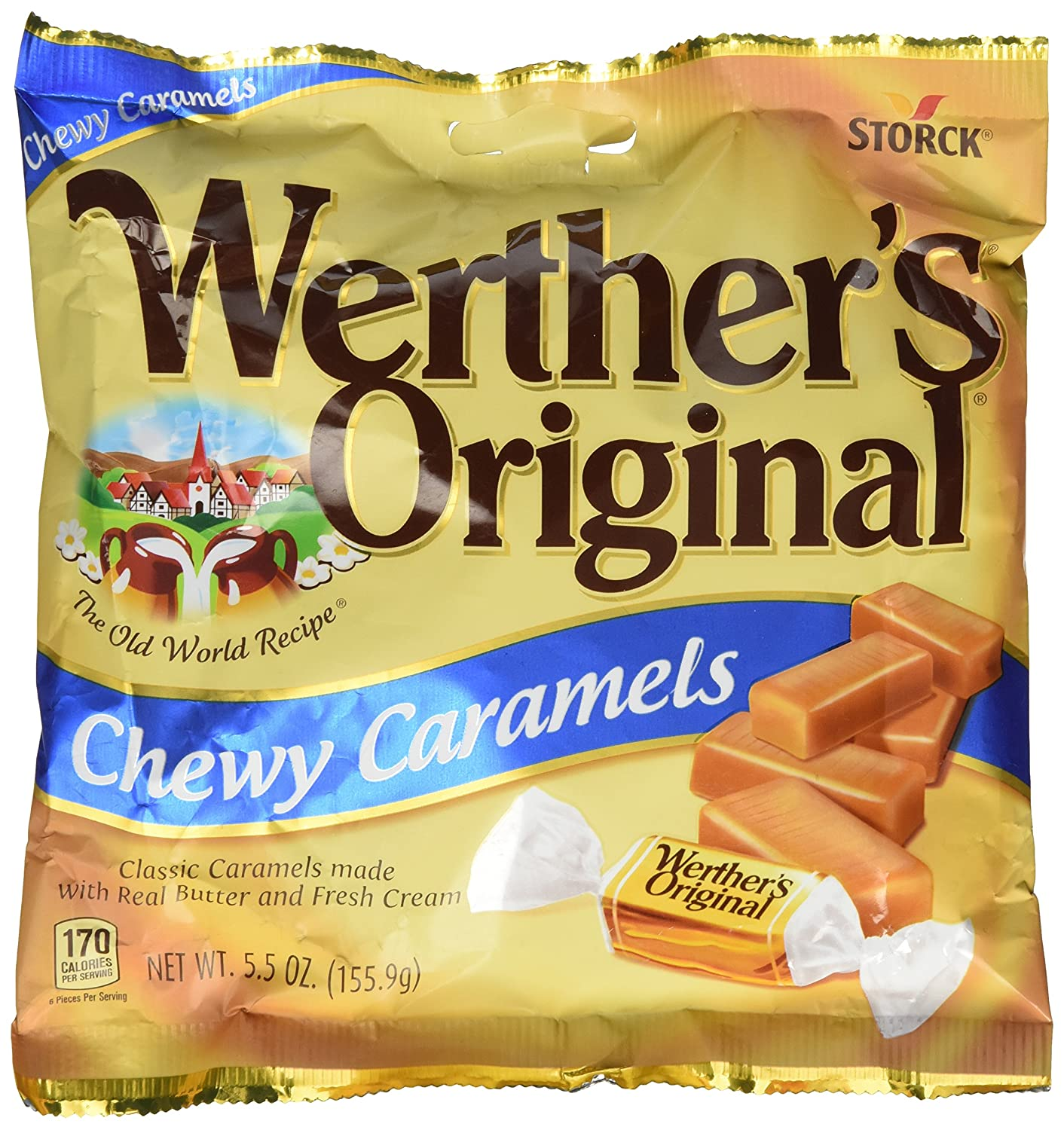Werther's Original, Chewy Caramels5 Ounce (2 Pack)
