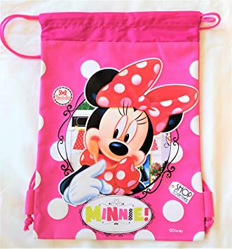 c91aedddb86 Image Unavailable. Image not available for. Color  Disney Minnie Mouse  Drawstring Backpack Sling Tote School ...