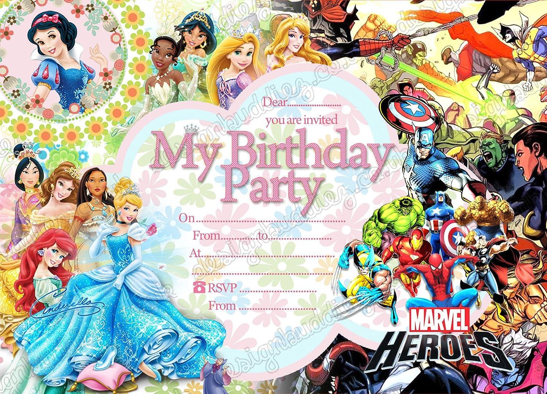 Personnalisé Disney Princesse Filles Fête D/'Anniversaire invite Inc enveloppes D11