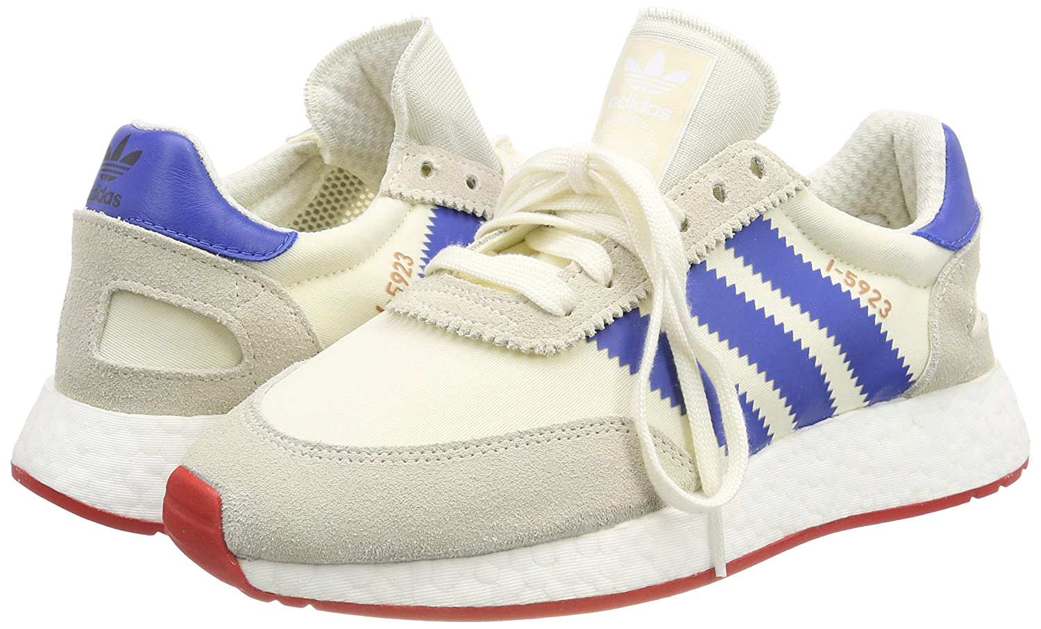 the best attitude 94233 1aabc adidas I-5923, Sneakers Basses homme - Blanc (Off White blue core Red 0),  40 2 3 EU  Amazon.fr  Chaussures et Sacs