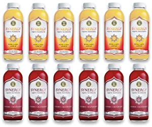 LUV BOX-Variety GT's KOMBUCHA Synergy Kombucha Pack,16 fl oz,12 pk,Pink Lady Apple , Cosmic Cranberry