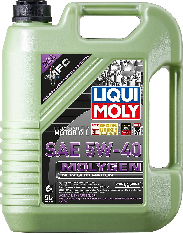 Liqui Moly 20232 Molygen New Generation 5W40 Motor Oil, 5 l, 1 Pack