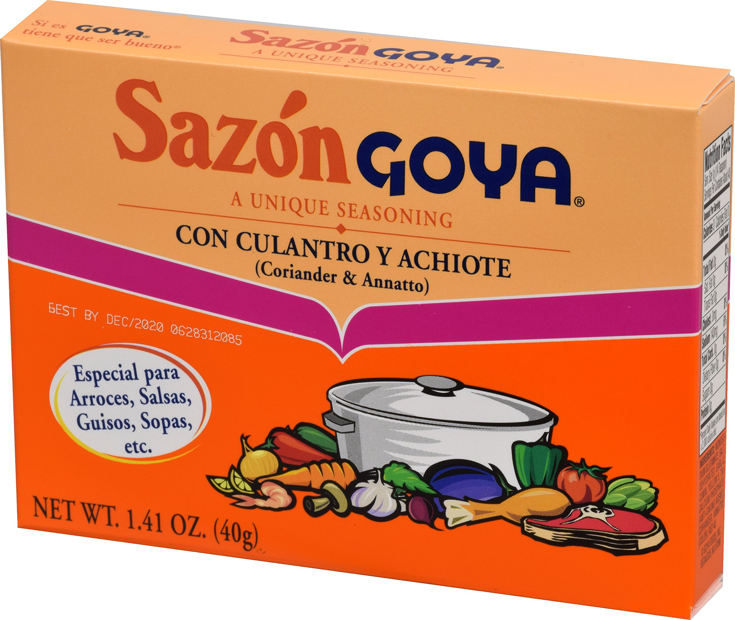 Goya Foods Sazon Coriander & Annatto, 1.41 Ounce (Pack of 36) by Goya (Image #4)