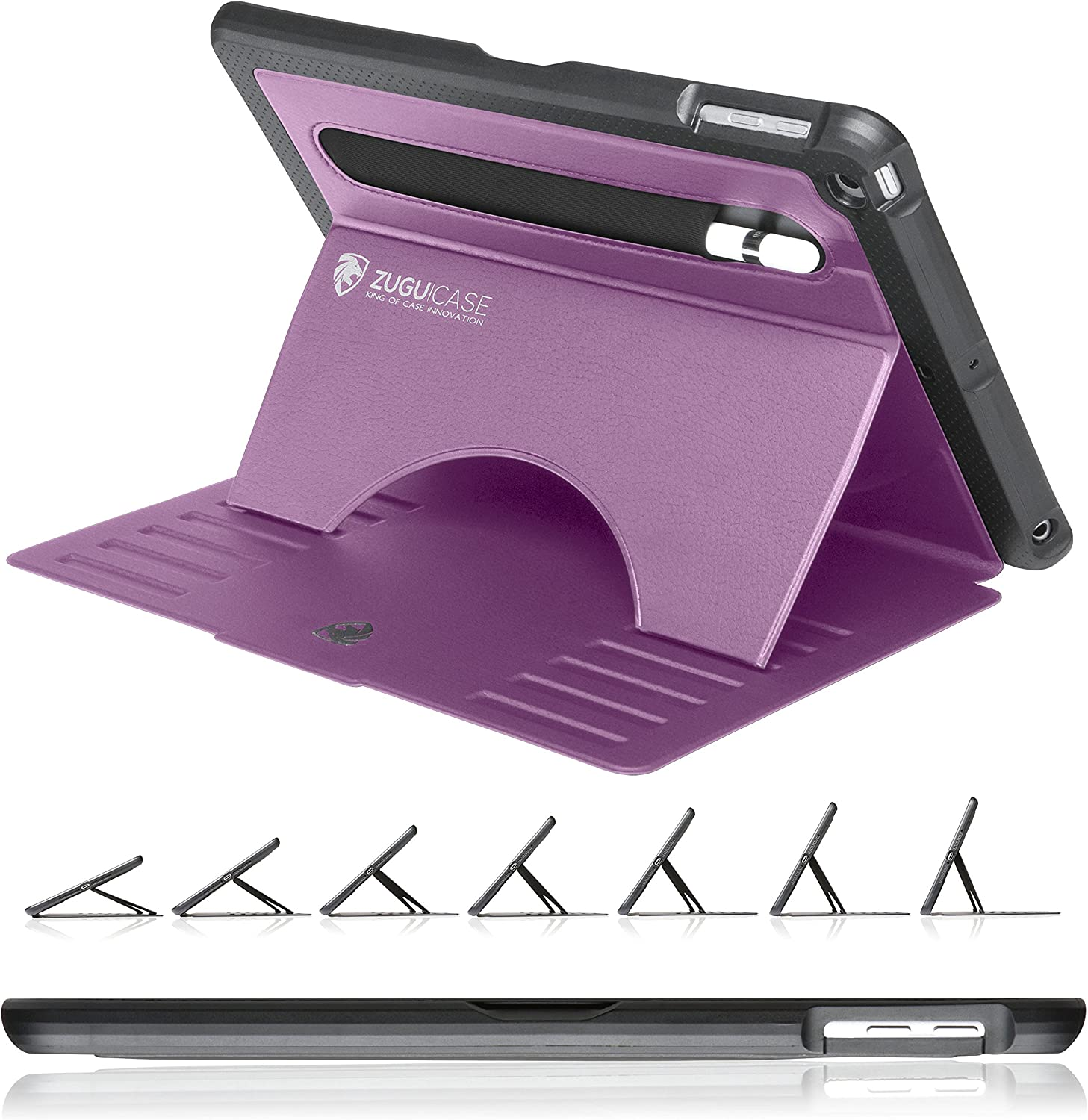 ZUGU CASE - 2018/2017 iPad 9.7-5/6 Gen & iPad Air 1 Prodigy X Case - Very Protective But Thin + Convenient Magnetic Stand + Sleep/Wake Cover (Purple)