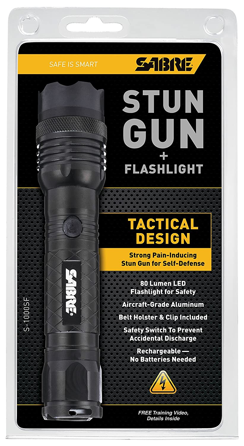 91znHE8wKaL._SL1500_ amazon com sabre tactical stun gun & led flashlight delivers  at gsmportal.co