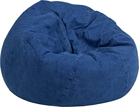 Amazon Com Flash Furniture Small Denim Kids Bean Bag Chair