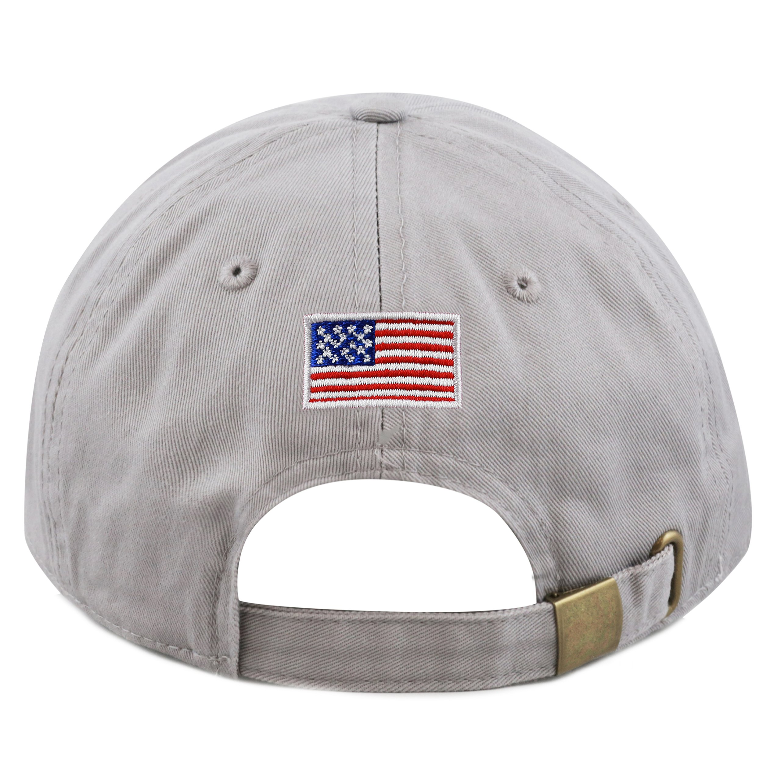 f046c572ffa THE HAT DEPOT Trump 2020 President Campaign Flag Washed Cotton Unstructured  Cap (Grey). Store Home Our Feedback Ask a Question
