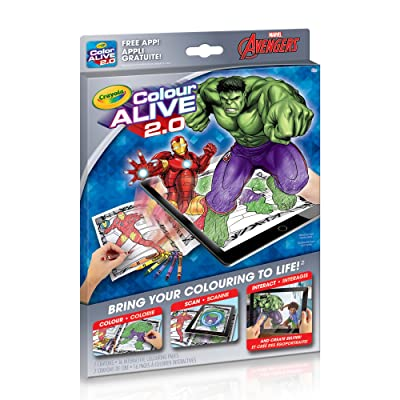 Crayola Colour Alive 2.0 The Avengers: Toys & Games