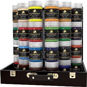 Acrylic Paint Set - 24 x 100ml Bottles - Heavy Body - Lightfast - Artist Quality Paints by MyArtscape