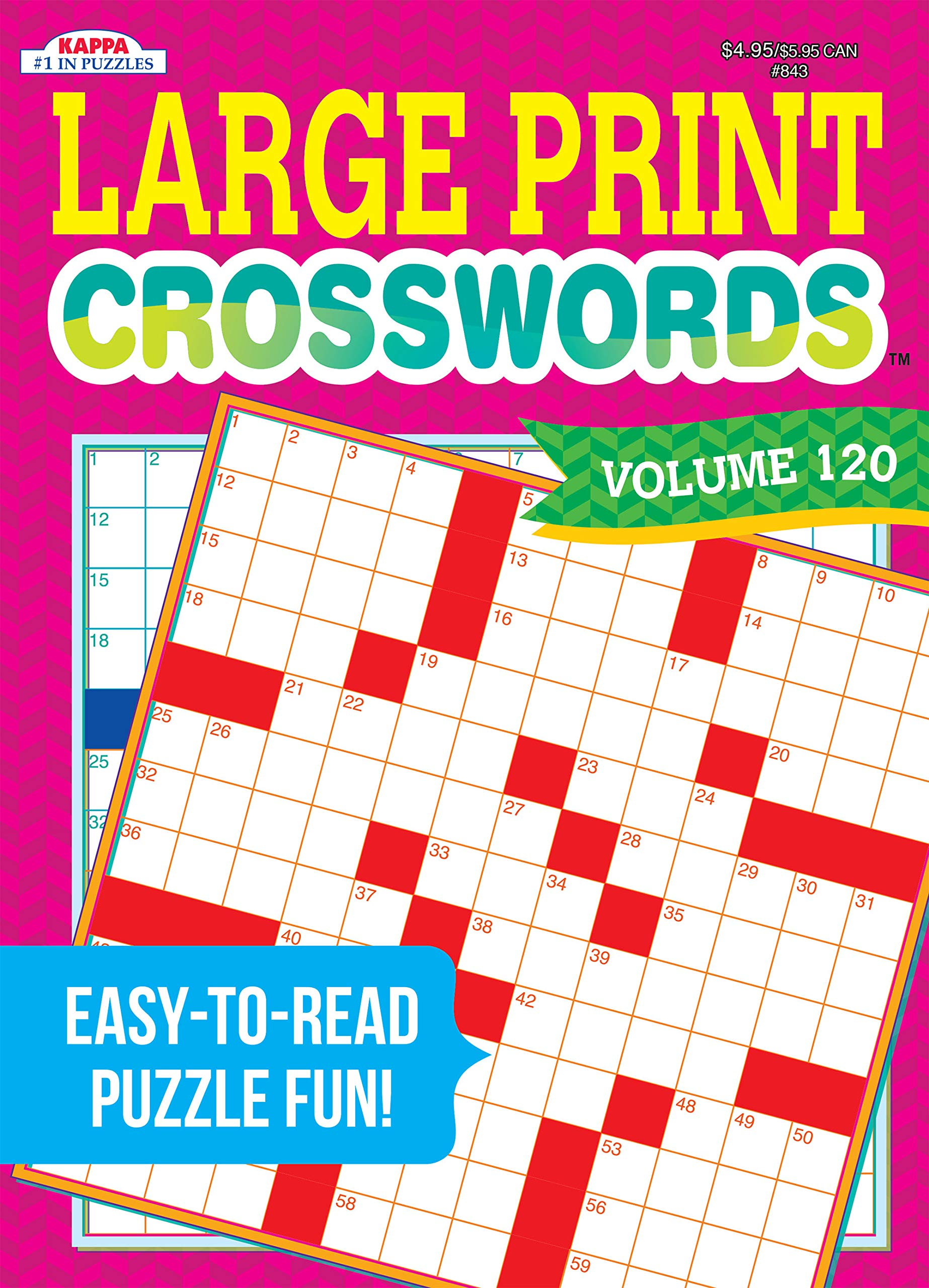 Large Print Crosswords Puzzle Book Volume 120 Kappa Books Publishers 9781559931908 Amazon Com Books