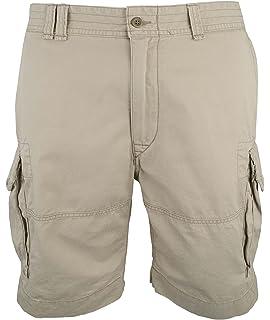 c8fff63be6 Polo Ralph Lauren Mens Classic Fit Commander Cargo Shorts (35, Black ...