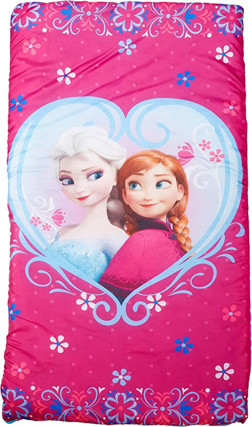 URBNLIVING Disney Frozen Anna And Elsa Sleeping Bag With Carry Bag