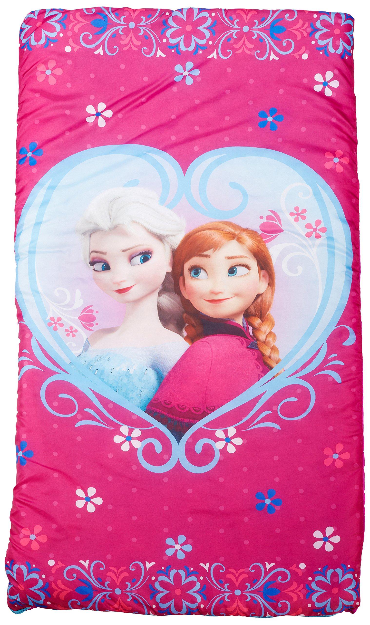 Disney Frozen Anna and Elsa Slumberbag, 30 X 54, Pink by Jay Franco (Image #1)