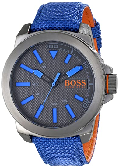 BOSS Orange Men s 1513008 New York Analog Display Quartz Blue Watch  Hugo  Boss  Amazon.ca  Watches cd4bed1708d