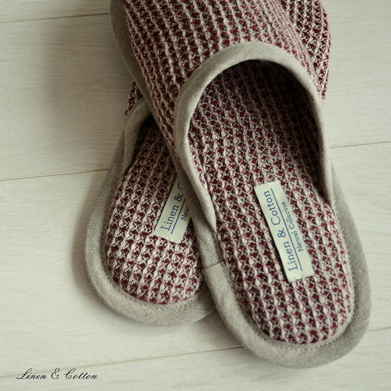 Linen & Cotton Zapatillas Pantuflas de Estar por Casa AIKO para Mujer/ Hombre- 100% Algodón (Eur 45-46, Blanco)