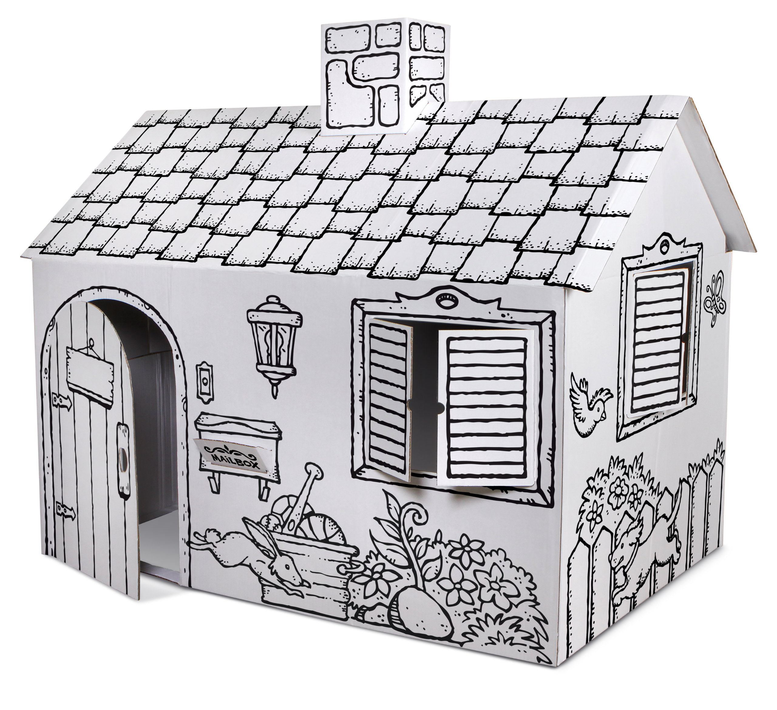 Discovery Kids Cardboard Color and Play Play House by Discovery Kids (Image #1)