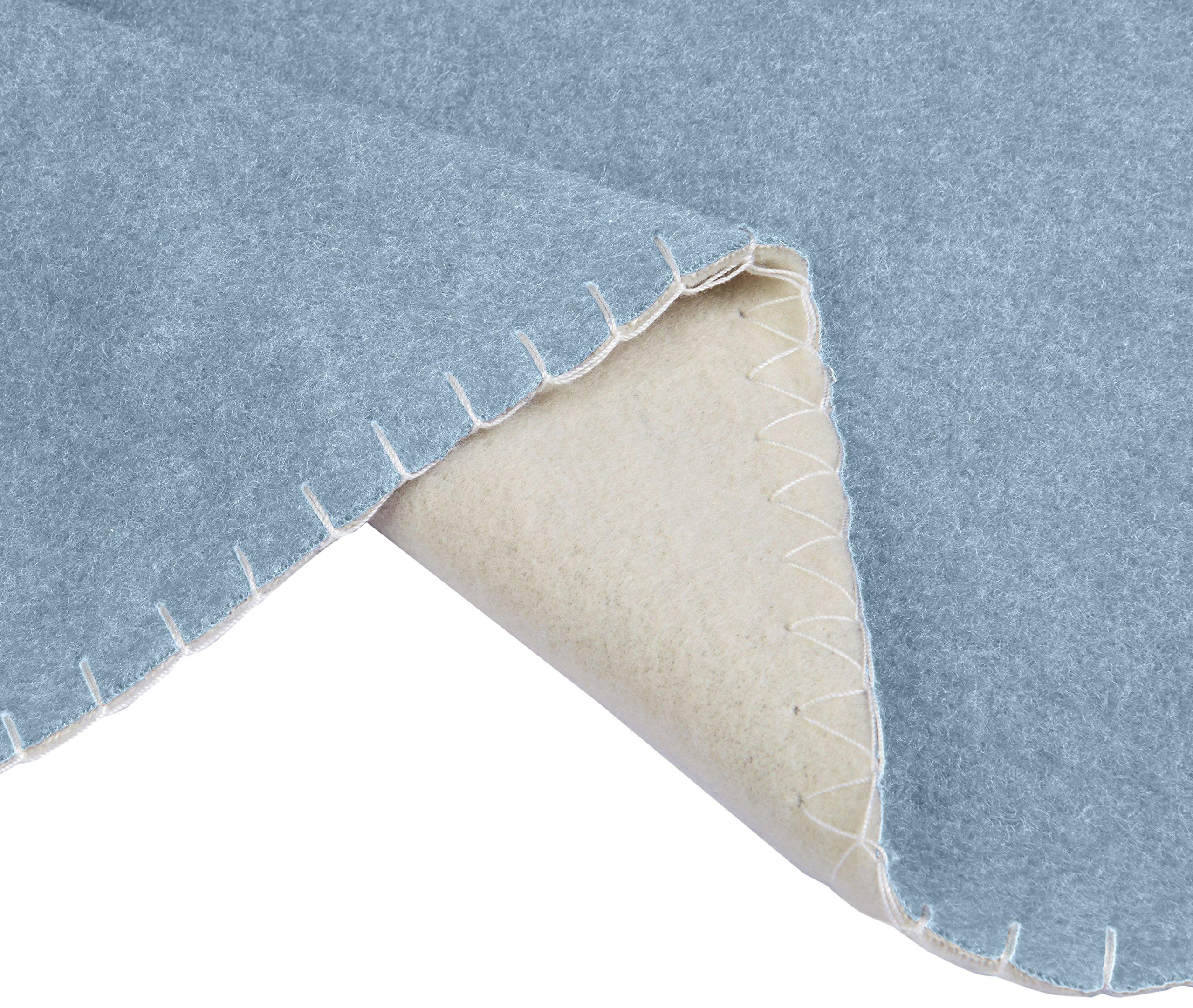 AmazonBasics Reversible Fleece Blanket - Throw, Spa Blue/Taupe by AmazonBasics (Image #3)