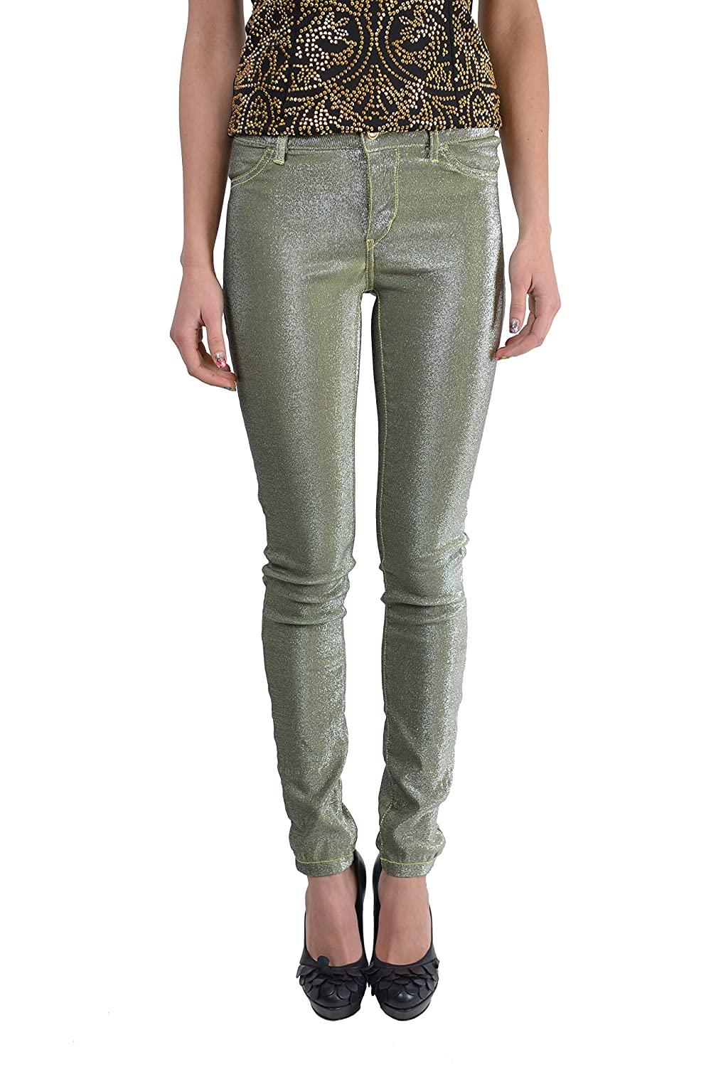 Just Cavalli Women's 'Just Chic' Green Sparkle Jeggings Pants US 26 IT 40