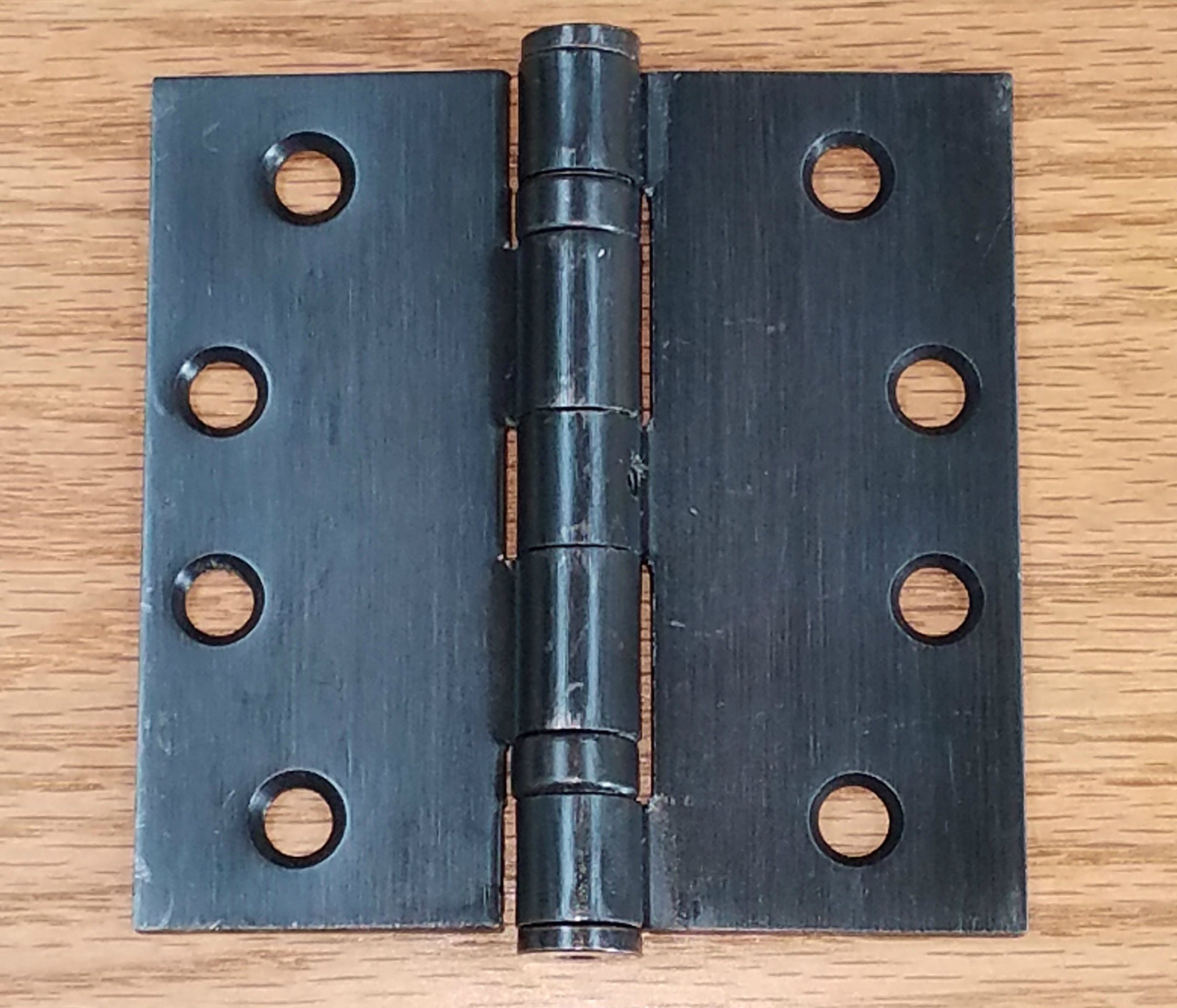 Oil Rubbed Bronze Commercial Door Hinges Ball Bearing - 4 Inch Square - 2 Pack - Non-Removable Pin
