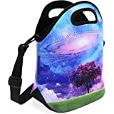 ToteUp Thermal Waterproof Neoprene Lunch Bag and Shoulder Strap - Grass and Tree