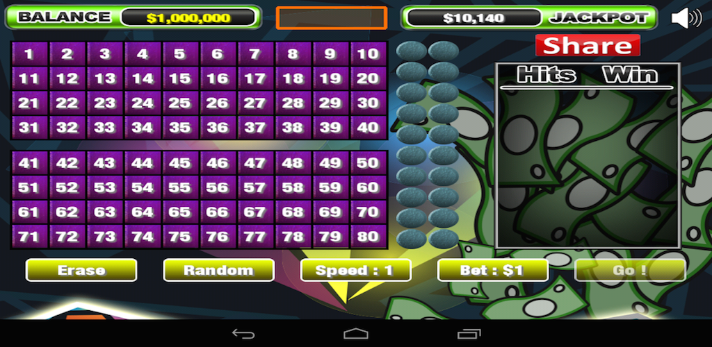 Amazon Com Prism Bets Keno Free Game For Kindle Fire Hd