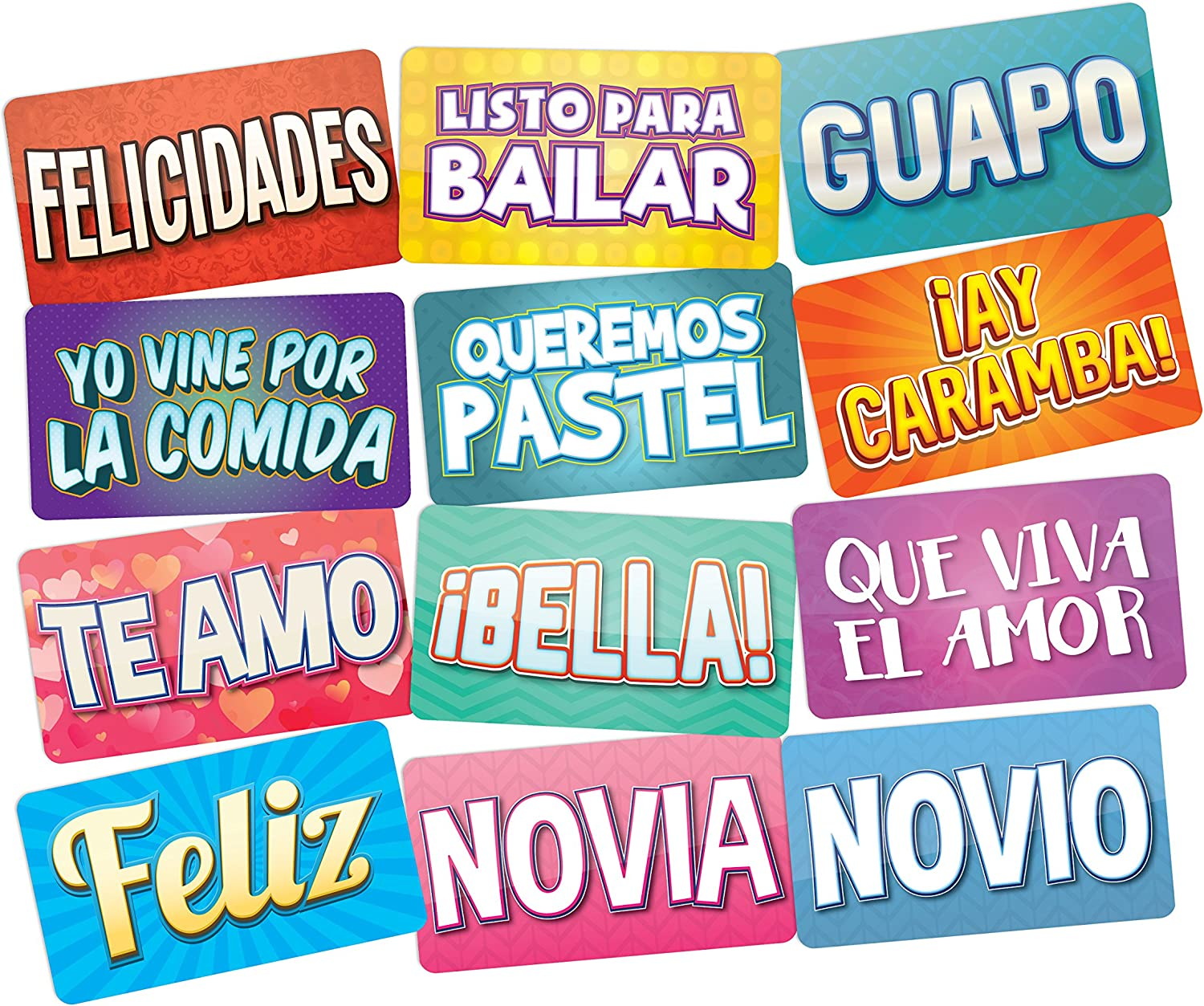 PHOTO BOOTH PROPS IN SPANISH Perfect Photo Booth Prop For Any Event, All Spanish Terms Can Be Used for Quinceaneras Weddings Birthday Parties and ...