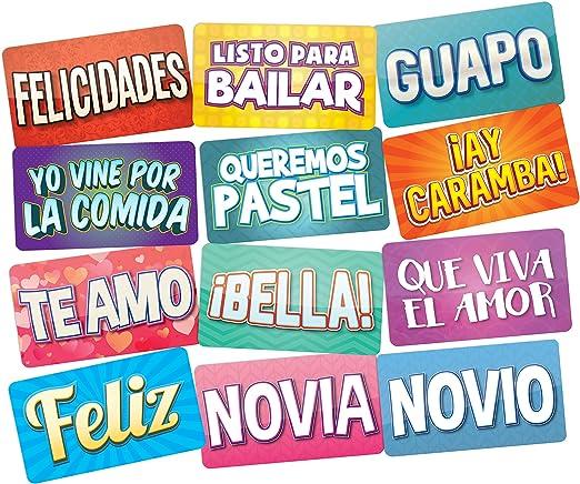 Amazon.com: Photo Booth Props en español Photo Booth Prop ...